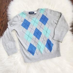 Children's Place Boy Blue Knit Long Sleeve Sweater